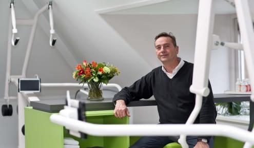 CEO van franchiseformule Walter Vendel. Hij breekt een lans voor de heropening van de fitnesswereld