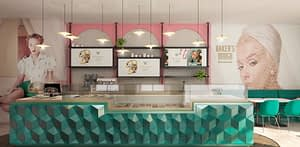 Inrichting Baker's Dough franchise vestiging