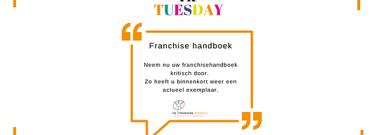 tip tuesday franchisehandboek controleren