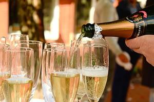 champagne op succes